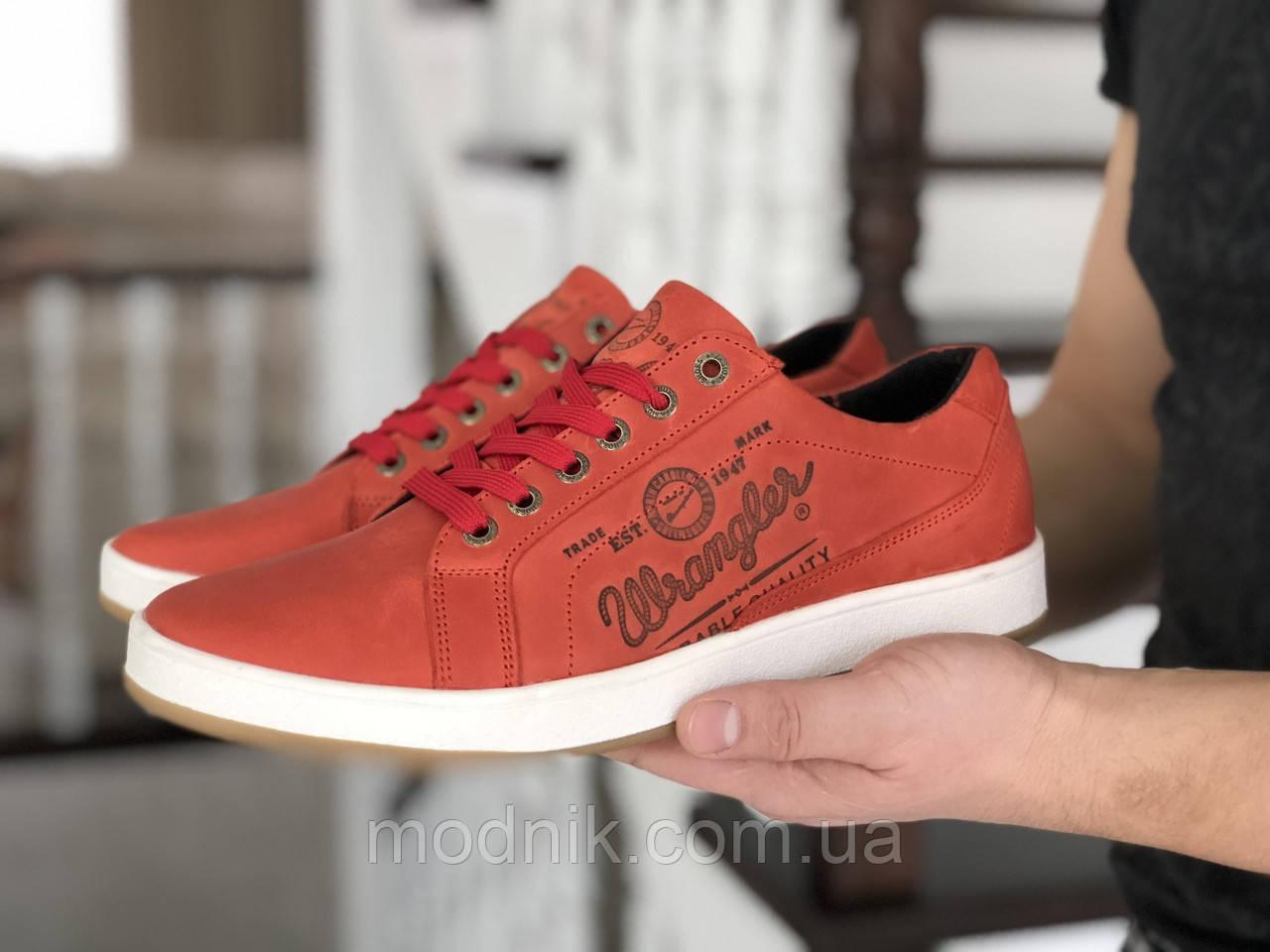 Мужские кроссовки Wrangler (теракотовые) 9089