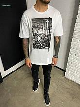 Мужская футболка с крестом (белая) - Турция (Ada1109)