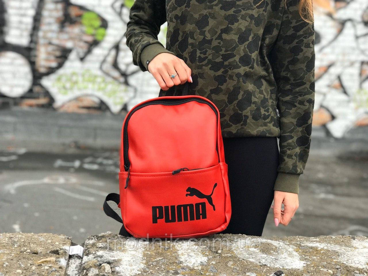 Женский городской рюкзак Puma (красный) 1234