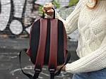 Женский городской рюкзак Puma (бордовый) 1227, фото 3