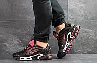 Мужские кроссовки черные с розовым Nike Air Max Tn
