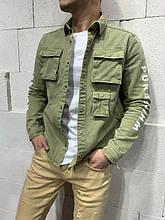 Мужской джинсовый пиджак (хаки) - Турция (20010202)