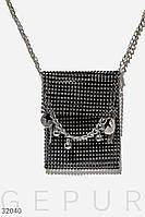 Эффектная женская сумка с камнями, фото 1
