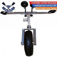 Носовая тележка для надувной лодки ТН-500 Пено до 200 кг с проколобезопасными колесами, клиренс 30 см