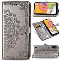 Кожаный чехол (книжка) Art Case с визитницей для Samsung Galaxy A01