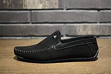 Мокасины мужские замшевые чёрные