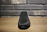 Мокасины мужские замшевые чёрные, фото 2