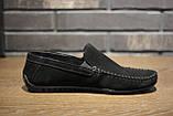 Мокасины мужские замшевые чёрные, фото 3