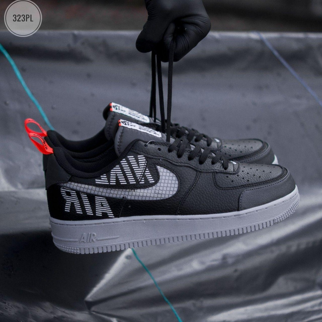 Мужские кроссовки Nike Air Force '07 LV8 black/grey - 323PL