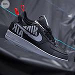 Мужские кроссовки Nike Air Force '07 LV8 black/grey - 323PL, фото 2