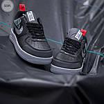 Мужские кроссовки Nike Air Force '07 LV8 black/grey - 323PL, фото 5