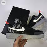 Мужские кроссовки Nike Air Force '07 LV8 black/grey - 323PL, фото 6