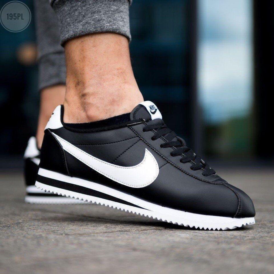 Чоловічі кросівки Nike Cortez black/white Classic - 195PL