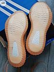 Чоловічі кросівки Adidas Yeezy Boost 350 Grey/Orange - 319PL, фото 2