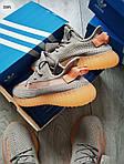 Мужские кроссовки Adidas Yeezy Boost 350 Grey/Orange - 319PL, фото 3