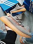Чоловічі кросівки Adidas Yeezy Boost 350 Grey/Orange - 319PL, фото 4