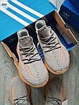 Чоловічі кросівки Adidas Yeezy Boost 350 Grey/Orange - 319PL, фото 6