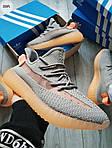 Чоловічі кросівки Adidas Yeezy Boost 350 Grey/Orange - 319PL, фото 7