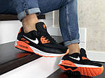 Мужские кроссовки Nike Air Max 90 (черно-белые с оранжевым) 9054, фото 5