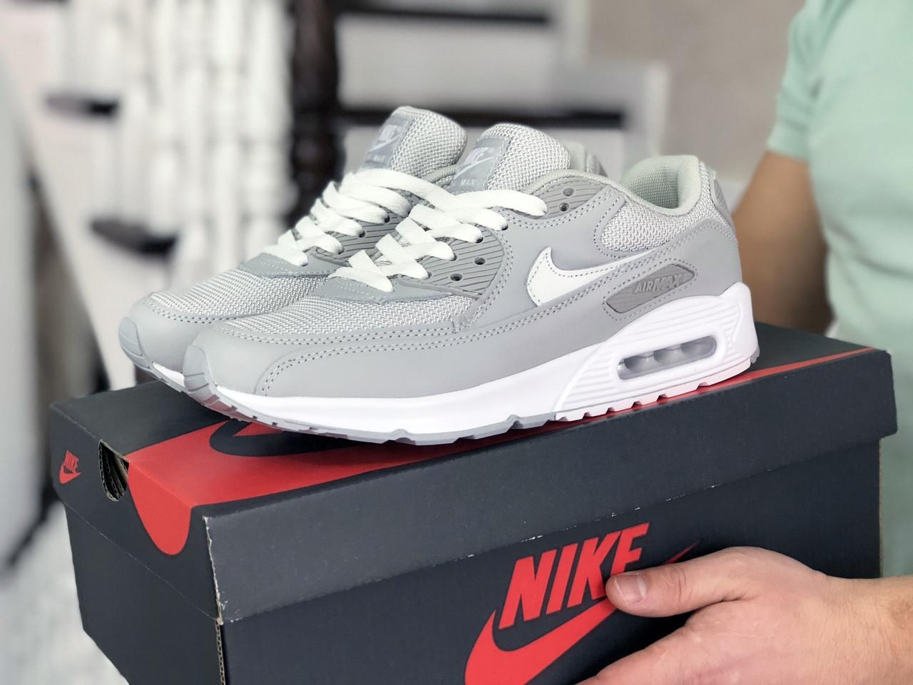 Мужские кроссовки Nike Air Max 90 (серые) 9055