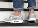 Мужские кроссовки Nike Air Max 90 (серые) 9055, фото 3