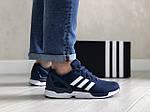 Мужские кроссовки Adidas Zx Flux (темно-синие с белым) 9060, фото 2