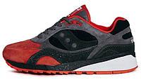 Мужские кроссовки Saucony shadow 6000 в черно-красном цвете