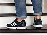 Мужские кроссовки Adidas Zx Flux (черно-белые) 9061, фото 5