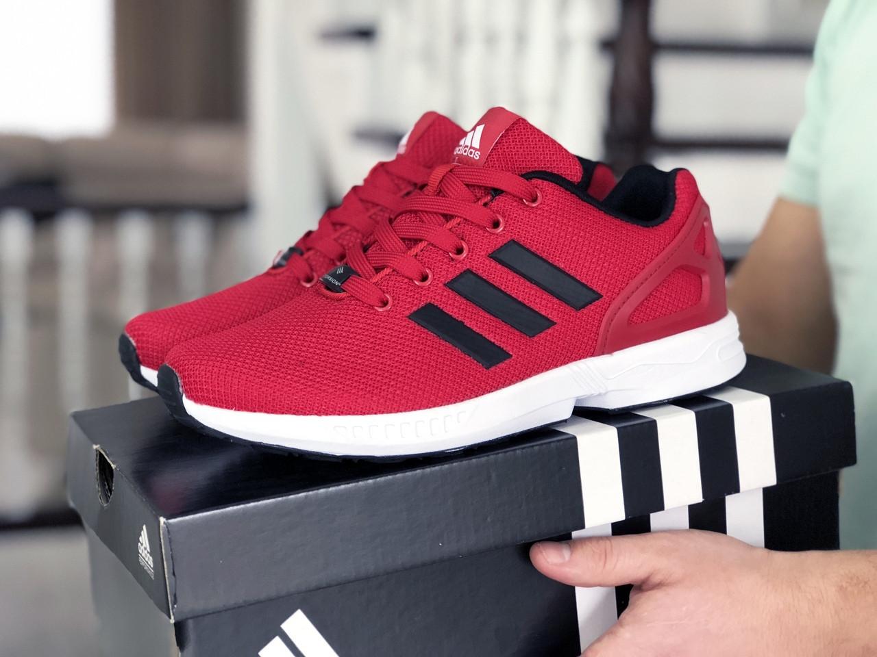 Мужские кроссовки Adidas Zx Flux (красные) 9064
