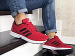 Мужские кроссовки Adidas Zx Flux (красные) 9064, фото 3
