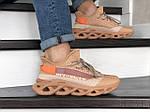 Мужские кроссовки Of-White (персиковые) 9066, фото 5