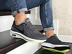 Мужские кроссовки Nike Run shield (серо-белые с салатовым) 9069, фото 3