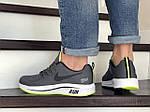 Мужские кроссовки Nike Run shield (серо-белые с салатовым) 9069, фото 4