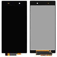 Дисплейный модуль (дисплей + сенсор) для Sony Xperia Z1 C6902 L39h, черный, оригинал