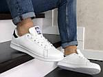 Чоловічі кросівки Adidas Stan Smith (біло-чорні) 9075, фото 2