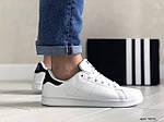 Чоловічі кросівки Adidas Stan Smith (біло-чорні) 9075, фото 3