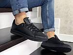 Мужские кроссовки Adidas Stan Smith (черные) 9076, фото 2