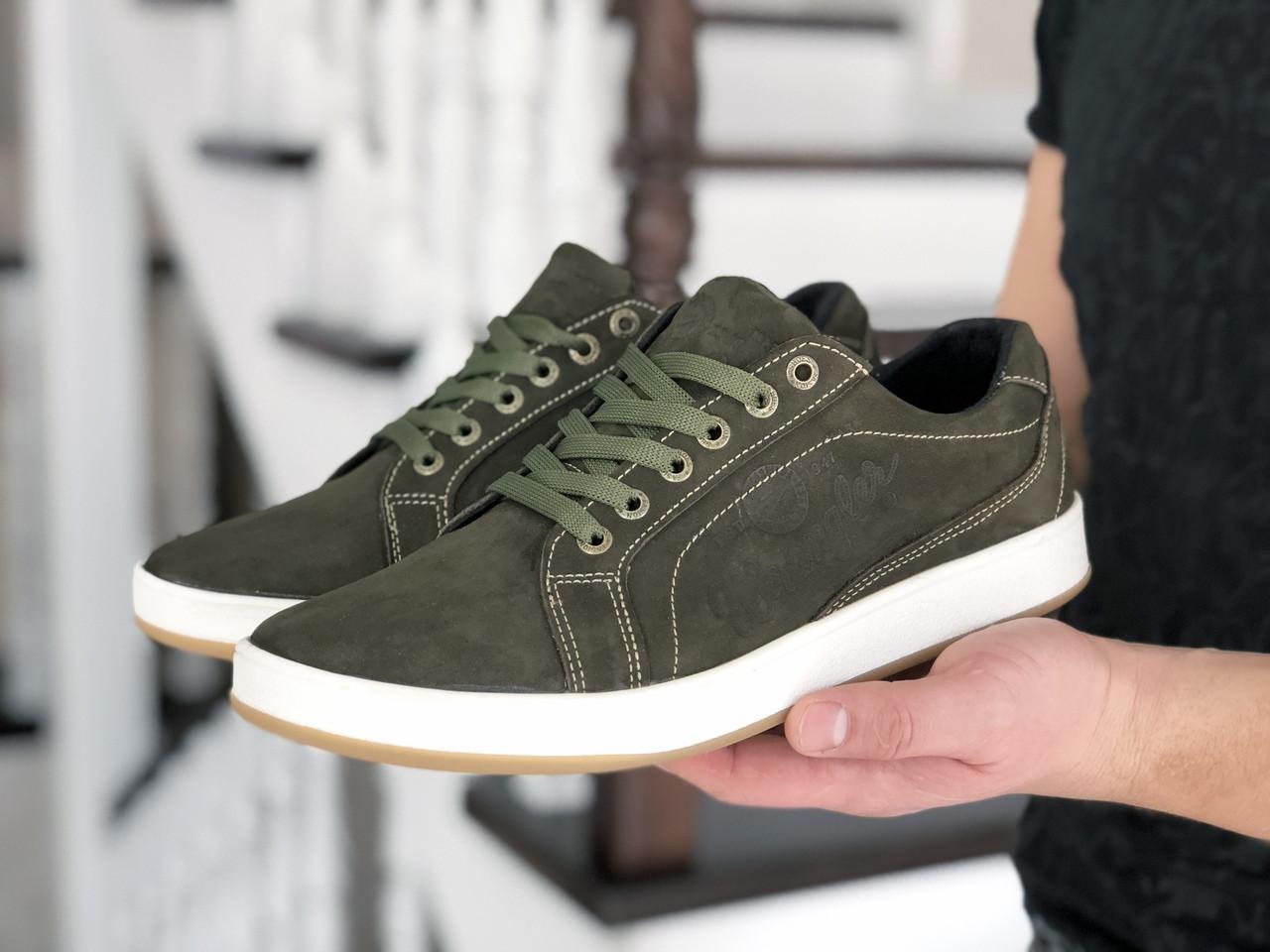 Мужские кроссовки Wrangler (темно-зеленые) 9086