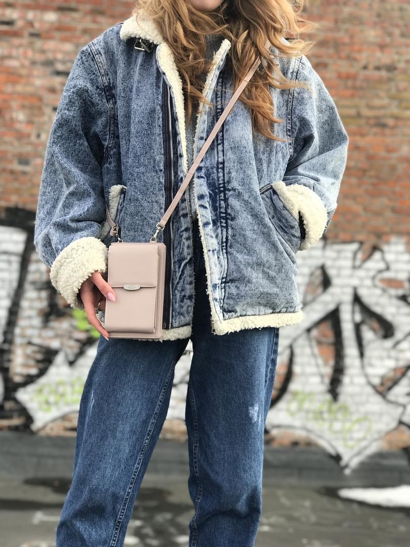 Жіноча сумка-гаманець (бежева) 1245