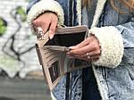 Жіноча сумка-гаманець (бежева) 1245, фото 2