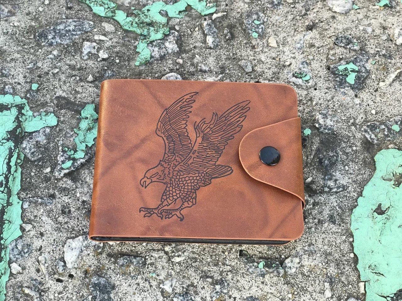 Мужской кошелек Орел (коричневый) 1237