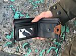 Мужской кошелек Орел (коричневый) 1237, фото 2