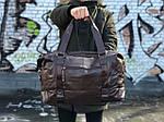 Мужская кожаная сумка (коричневая) 1232, фото 2