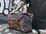 Мужская кожаная сумка (коричневая) 1232, фото 3