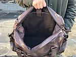 Мужская кожаная сумка (коричневая) 1232, фото 4