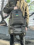 Чоловічий військовий оксфорд, якісний рюкзак (хакі) 1231, фото 3