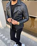 Мужская модная косуха (черная) - Турция (661), фото 2