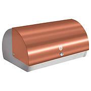 Хлебница 38,5x28x18,5 см из нержавеющей стали, крышка золотистый металлик
