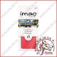 """Ароматизированная карта (освежитель воздуха) IMAO """"DOUCEURS DE CAPRI"""" 11g. Made in France."""