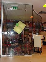 Стеклянные перегородки из гнутого стекла